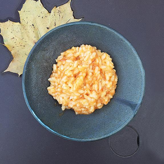 Risotto et sauce tomate bio rouge (sauce coeur de boeuf, rose de berne ou cornu andine)