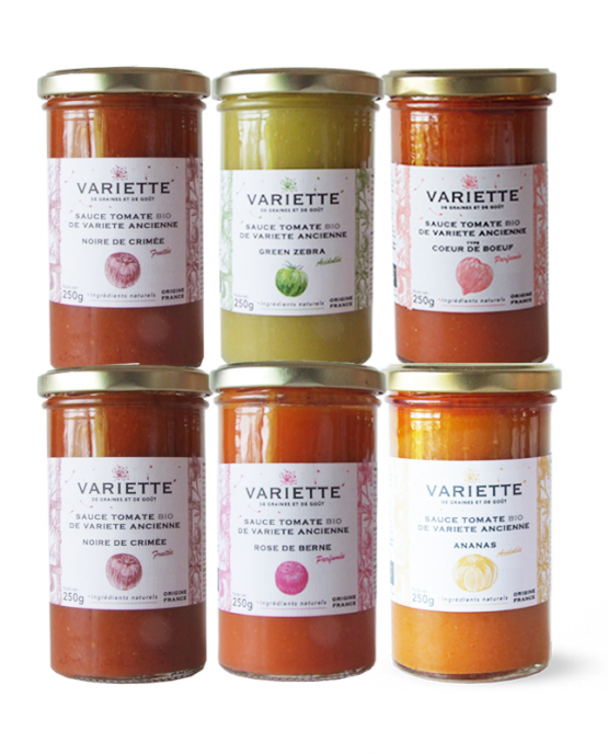 Pack sauces tomates anciennes bios