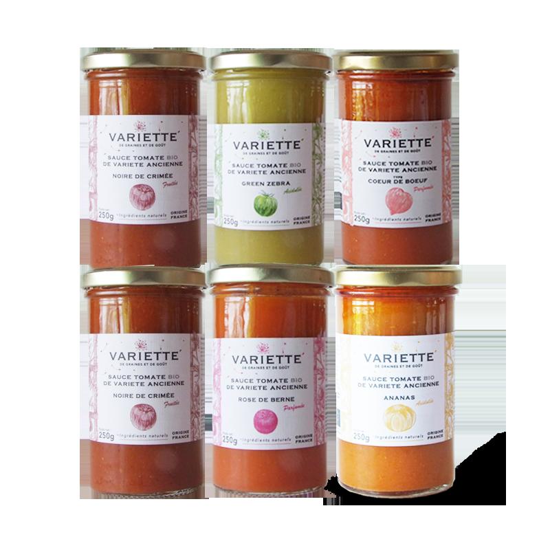 Pack sauces tomates anciennes bios