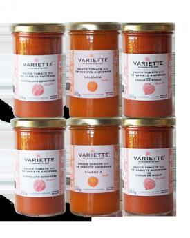 Pack découverte 19-4 : 6 x 250g sauces tomates BIO