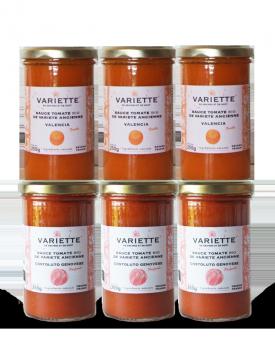 Pack découverte 20-1 : 6 x 250g sauces tomates