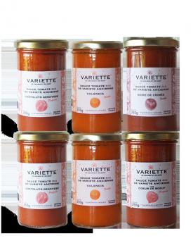 Pack découverte 20-2 : 6 x 250g sauces tomates