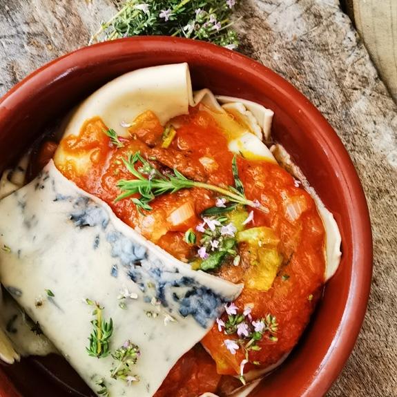Lasagne et sauce tomate ancienne ROUGE BIO VARIETTE